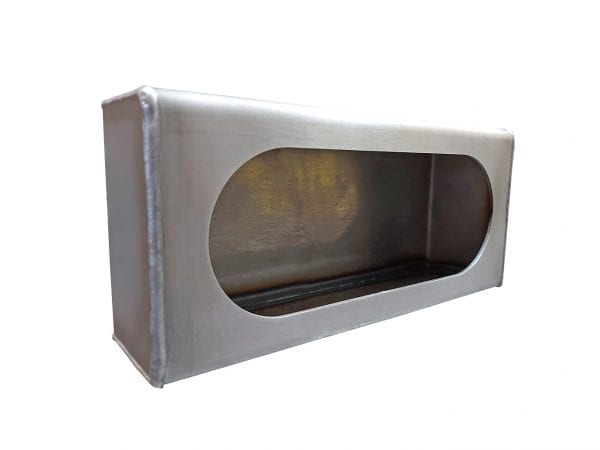 Single Oval Light Box - Steel