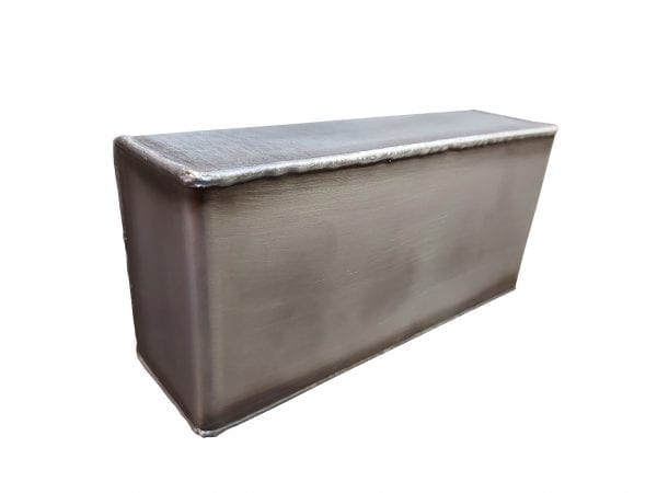 Single Oval Light Box - Steel