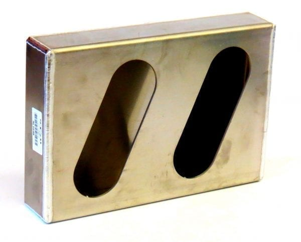 Aluminum Double Slanted Oval Light Box, RH