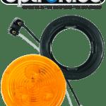 "LED 2.5"" Amber Light Kit with Plug & Grommet"
