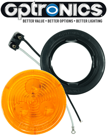 "LED 2.5"" Amber Light Kit with Plug & Grommet"