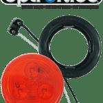 "LED 2.5"" Red Light Kit with Plug & Grommet"