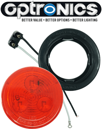 "LED 2.5"" Red Light Kit with Plug & Grommet"