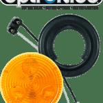 "LED 2"" Amber Light Kit with Plug & Grommet"