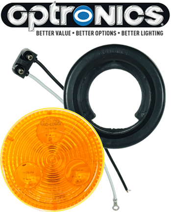 "LED 2"" Amber Light Kit with Plug & Grommet"