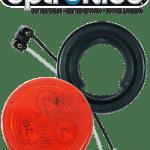 "LED 2"" Red Light Kit with Plug & Grommet"
