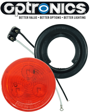 "LED 2"" Red Light Kit with Plug & Grommet"