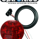 "LED 4"" Red Light Kit with Plug & Grommet"