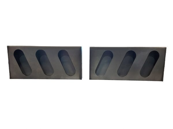 Triple angle oval light boxes, set of LH & RH