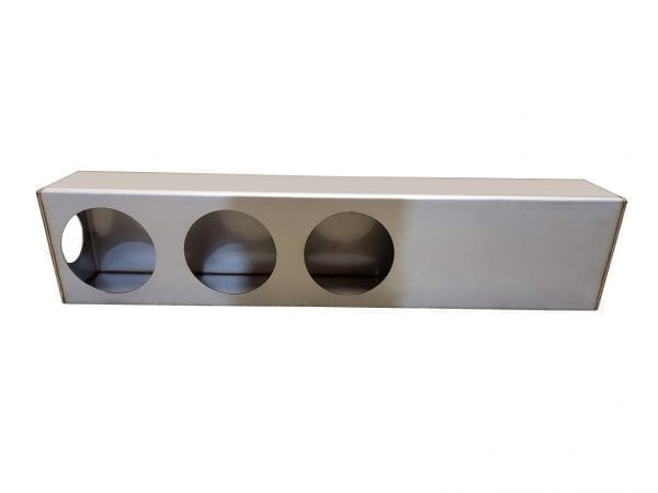Stainless Steel Triple Tail Light Box With Side Marker, 28""